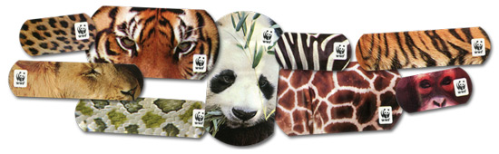 All nine designs of WWF Safari Plasters